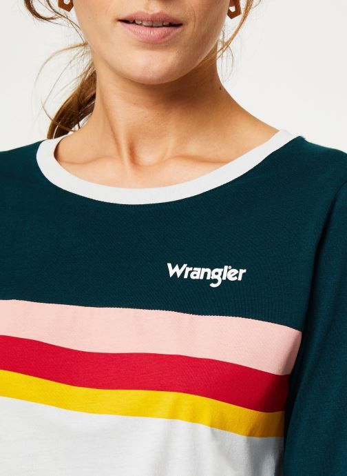 Vêtements Wrangler Rainbow Tee Blanc vue face